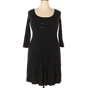 Max Mara Weekend 3/4 Sleeve Pleated beaded dress